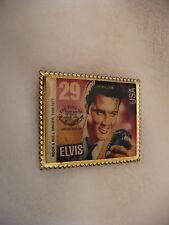 VW- ELVIS ROCK & ROLL SINGER 1935-1977 USPS STAMP PIN (FIRST DAY OF ISSUE)#49014