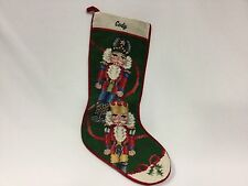 "Tapestry Christmas Stocking Nut Colonial Soldier Crackers 19"" Completed Cody"