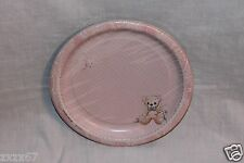 NEW PRECIOUS MOMENTS BABY SHOWER PINK GIRL 8 DESSERT PLATES PARTY SUPPLIES