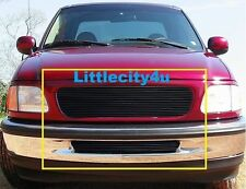 FOR 1997 98 Ford F-150 2WD Black Billet Grille Grill Combo Inserts upper bumper