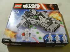NEW IN BOX SEALED LEGO STAR WARS SET FIRST ORDER SNOWSPEEDER 75100 DISNEY NIB