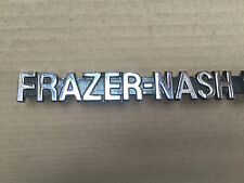 CLASSIC BMW FRAZER-NASH BADGE LOGO DECAL CHROMED ON CAST METAL GENUINE X DEALER