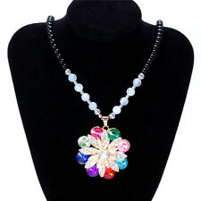 Women's Vintage Flower Fashion Jewelry Hot Charm Crystal Pendant Necklace NEW B2