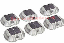 6 Pack Solar LED Pathway Driveway Lights Dock Path Step Road Safety Markers