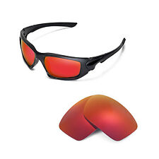 New Walleva Polarized Fire Red Replacement Lenses For Oakley Scalpel Sunglasses
