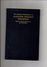 BIBLIOGRAPHY HAMILTON THOMPSON MEDIEVAL ENGLISH HISTORY ARCHAEOLOGY LEICESTER