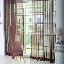 1M*2M Floral Tulle Voile Door Window Curtain Drape Panel Sheer Scarf Divider