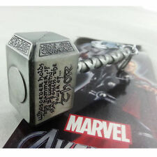 Ultra-realistic animation model MARVEL AVENGERS THOR HAMMER KEYCHAIN GREY METAL
