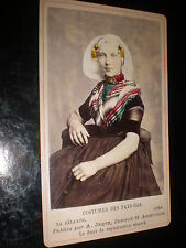 Cdv old photograph Costumes of the Netherlands a Zeelander by Jager c1870s