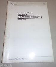 Werkstatthandbuch VW Golf IV / Bora Fahrwerk Lenkung Achsen Syncro Frontantrieb