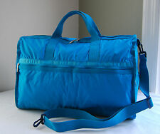 LeSportsac 7185 Turquoise Large Weekender Duffle Travel Bag