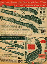 1966 PAPER AD Marx Toy Train Set 5 Unit Steam Lionel Lego Wheel Sets Car Truck
