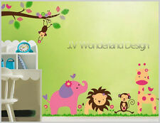Jungle animal Wall decal Removable stickers decor kids nursery art kids baby au
