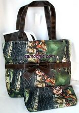CAMOUFLAGE & BLACK DIAPER BAG, CAMO PURSE HANDBAG, CHANGING PAD