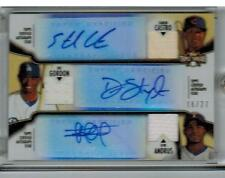 2012 TOPPS TRIPLE THREADS STARLIN CASTRO DEE GORDON ELVIS ANDRUS AUTO JERSEY BAT