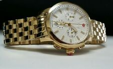 NEW IN BOX Michele Uptown Gold Tone Diamond Dial, all gold Band MW25A00A9942