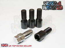 4 x Black Tuner Locking Alloy Wheel Bolts M12x1.5 fit Fiat Punto Evo