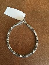 "$225.00 LAGOS Signature Sterling Silver Rope CaviarBracelet 8""  NWT"