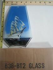 FREE US SHIP OK Touch Lamp Replacement Glass Panel Sail Boat Ship Ocean 638-BT2
