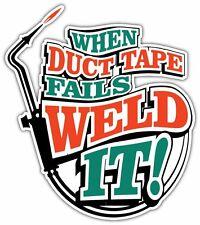 """Duct Tape Weld Welding Helmet Welder Funny Car Bumper Vinyl Sticker Decal 4""""X5"""""""