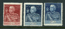 ITALY 1925-26 KING JUBILEE Perf 13.5 MNH Set 3 Stamps cat EURO 75