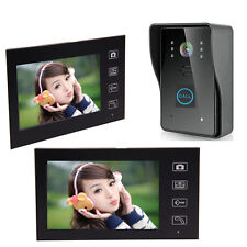 "7"" Wireless Video Camera Door Phone Doorbell Home Intercom 2-Monitor Security US"