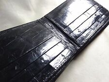New Handmade Genuine Black Alligator-Crocodile  Premium Skin Bifold  Wallet 9