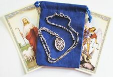 St. Michael & Guardian Angel Saint Medal with 18 Inch Necklace