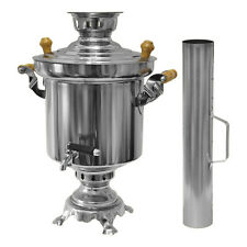 Russian turkish Stainless steel Charcoal Samowar 5 Liter Samovar Carbon Tea