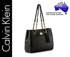 Calvin Klein CK Hastings Pebble Leather Stitch Detail Handbag Bag - Black - NEW!