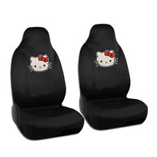 New Sanrio Hello Kitty Big Face Red Bow Car Front Bucket Seat Covers 2pcs Set
