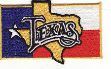 "Texas Flag 3 1/4"" Embroidered Iron On Patch *New*"
