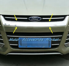 Chrome Front Center Grille Cover Trim For Ford Kuga Escape MK2 2013 2014 2015 16
