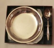 Oneida Community Rose Bowl With Slotted Spoon in box New