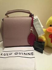 Genuine Lulu Guinness Bag  leather Bnwt Colour Lilac