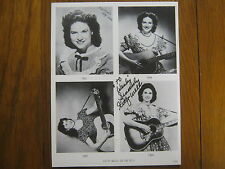 KITTY  WELLS(Died 7/16/2112) The Queen of Country Music Signed  8X10 B & W Photo