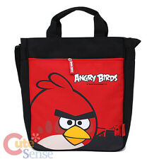"Angry Birds Canvas Tote Bag 13"" Shoulder Bag - Red Bird Rovio Licensed"