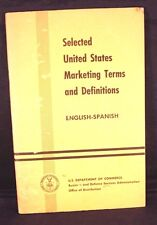 Vintage US Dept of Commerce Marketing Terms English-Spanish Pamphlet +Bonus+