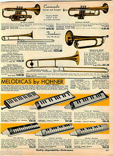 1969 ADVERTISEMENT Harmonica Hohner Chordomonica Melodicas Accordians Concertina
