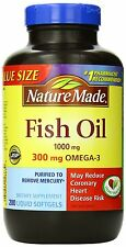 Nature Made Fish Oil 1000 Mg Value Size Softgels 200-Count