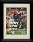 Framed Joe Montana Sports Illustrated Autograph Print - 49ers Super Bowl Champs
