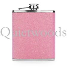 Pink Glitter Bling Stainless Steel Hip Drinking Liquor Flask 7oz