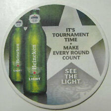 HEINEKEN LIGHT TOURNAMENT TIME BEER Coaster, MAT, NETHERLANDS 2010