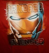 MARVEL COMICS IRON MAN AVENGERS TSHIRT RED XLARGE NEW XL ARMORED AVENGER