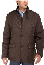 Luciano Natazzi Men's Quilted Puffer Jacket With Double Knit Collar (navy)