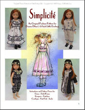 """Simplicité"" Fashion Pattern for Dianna Effner's 13 Inch Little Darlings"