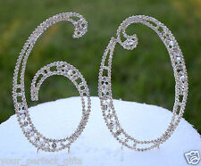 """5"""" Rhinestone Silver Number Sixty 60 Bling Cake Topper Birthday Anniversary"""