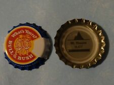 BEER Bottle Crown Cap ~ BULL & BUSH Brewery ~ COLORADO ~ Mt. Massive 14,421'