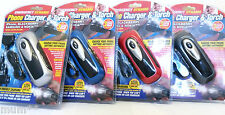 Camping Aid Dynamo Wind Up Torch Universal Camping Mobile Charger Holiday Aid