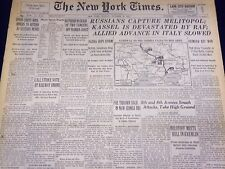 1943 OCTOBER 24 NEW YORK TIMES - RUSSIANS CAPTURE MELITOPOL - NT 1761